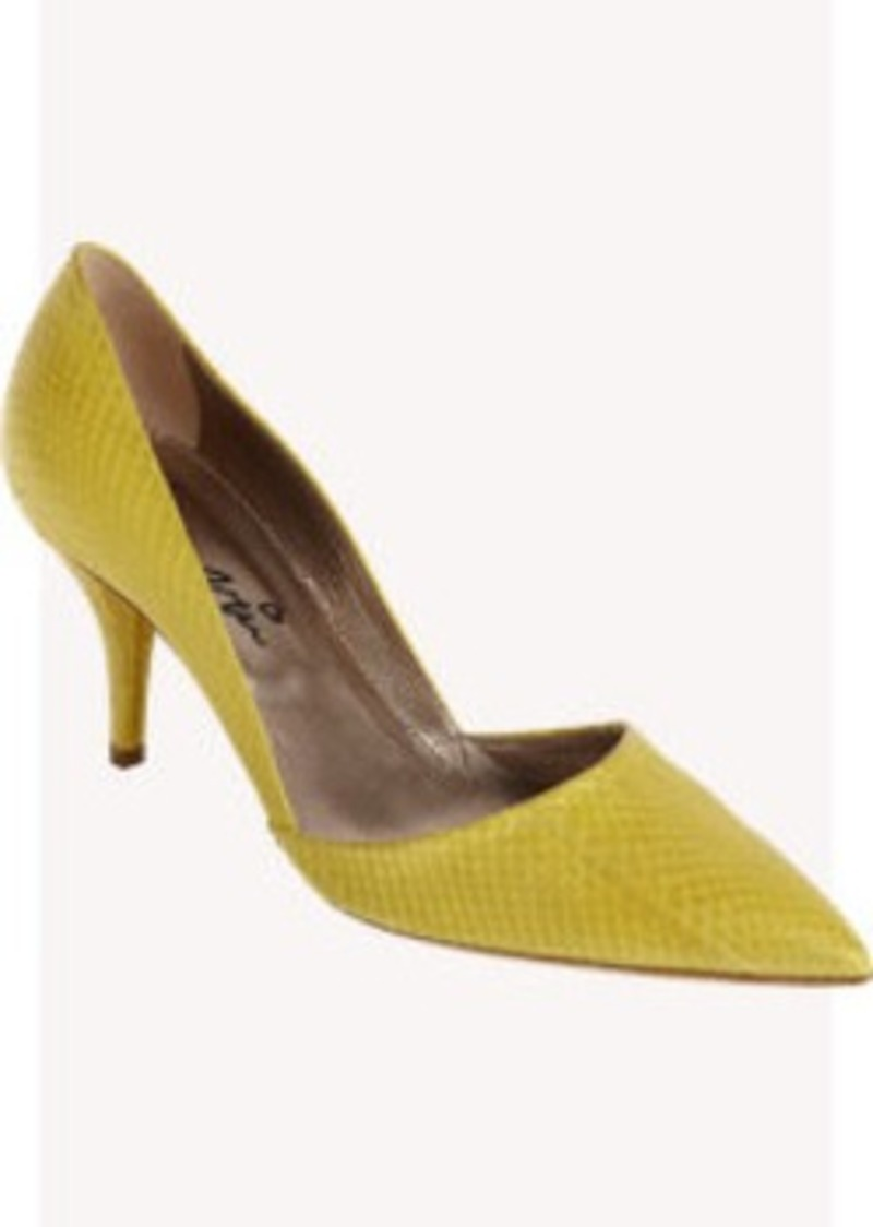 Lanvin Snakeskin Low-Cut Pump