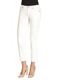 Elie Tahari Ramona Floral-Jacquard Jeans