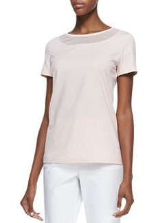 Lafayette 148 New York Short-Sleeve Tee, Daiquiri