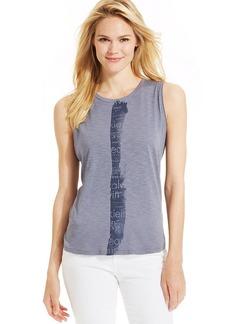 Calvin Klein Jeans Sleeveless Striped Tank Top