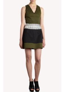 Proenza Schouler Snakeskin-Waist Dress