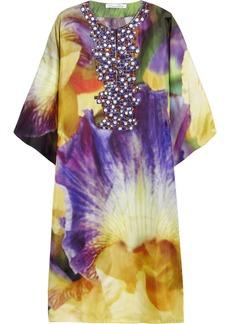 Oscar de la Renta Iris printed silk-twill kaftan