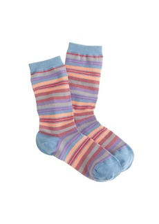 Multicolor-stripe trouser socks