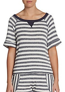 C&C California Striped French Terry Top