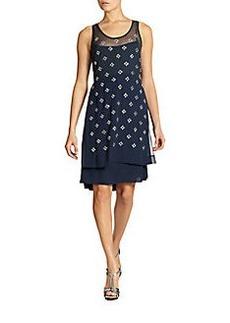 Diane von Furstenberg Abrielle Crystal-Embellished Dress