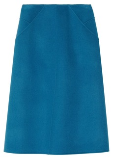 Jil Sander Double-faced wool-fleece skirt