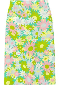 Marni Printed georgette skirt