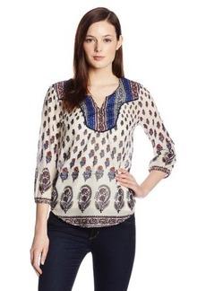 Lucky Brand Women's Indian Cotton Boho Top