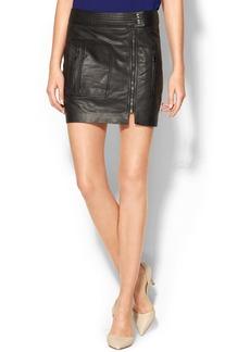 Trina Turk Kristol Leather Skirt