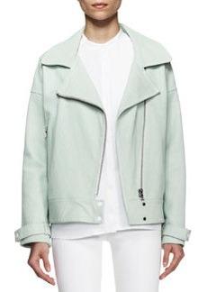J Brand Ready to Wear Durham Leather Zip Jacket