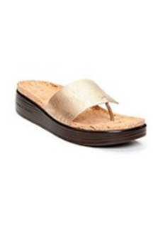 """Donald J Pliner® """"Fifi"""" Platform Flip Flops - Gold"""