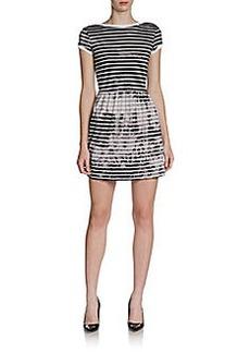 French Connection Amelia Striped Tye-Die Knit Dress