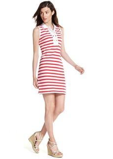 Tommy Hilfiger Sleeveless Striped Polo Dress