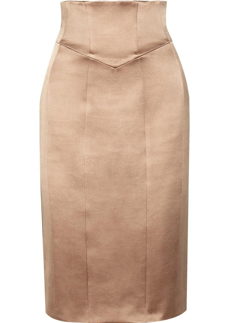 burberry prorsum sateen pencil skirt shop it to me all