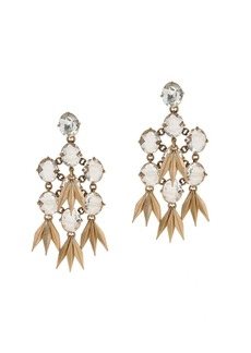 Jeweled quill earrings