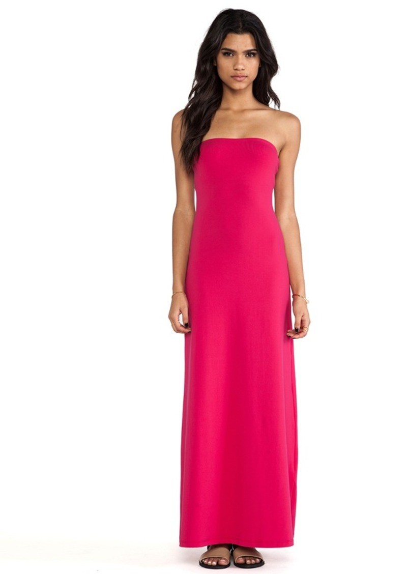 Susana Monaco Helena Strapless Maxi Dress in Fuchsia