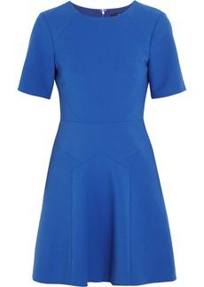 Tibi Paneled stretch-crepe mini dress