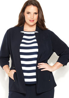 Jones New York Collection Plus Size Open-Front Jacket