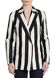 Robert Rodriguez Striped Double-Breasted Blazer