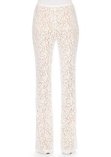 Michael Kors Floral-Lace Trousers
