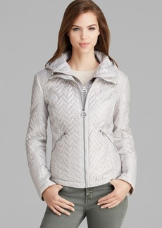 Laundry by Shelli Segal Jacket - Mini Quilted High/Low Zip Front
