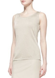 Lafayette 148 New York Scoop-Neck Knit Tank, Champagne