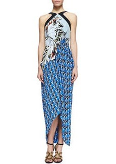 Etro Long Printed Halter Sarong Dress