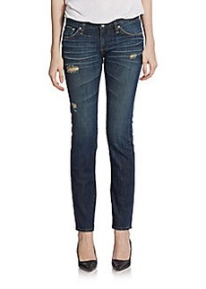 AG Adriano Goldschmied Distressed Cigarette Jeans
