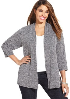 Charter Club Plus Size Open-Front Cardigan