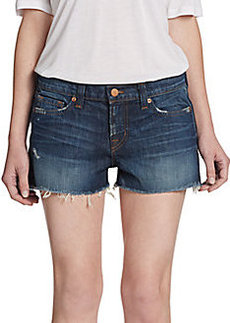 J Brand Low-Rise Cut-Off Denim Shorts