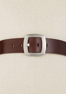 Calvin Klein Leather Pant Belt with Centerbar Buckle Belt