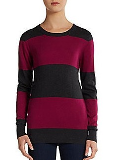 French Connection Sydney Colorblock-Stripe Pullover
