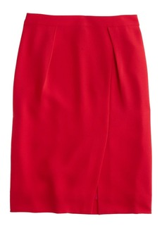 Drapey crepe pencil skirt