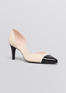 Stuart Weitzman Pointed Toe Cap Toe D'Orsay Pumps - Tipferret High Heel