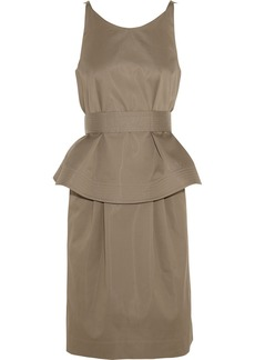Chloé Cotton-blend twill peplum dress