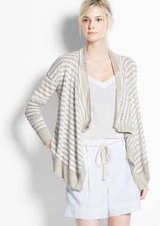 Striped Linen Open Cardigan