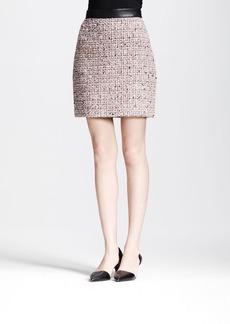 Proenza Schouler Leather-Waistband Tweed Skirt