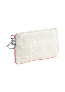 Christian Dior ecru geo canvas clutch