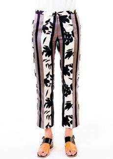 Marni Floral-Print Satin Pants