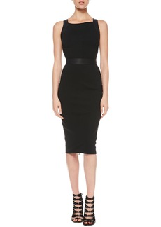 Jason Wu Full-Zip Combo Sheath Dress