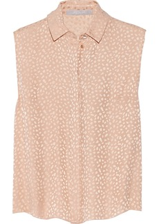 Jason Wu Open-back silk-jacquard top