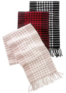 Charter Club Cashmere Houndstooth Muffler Scarf