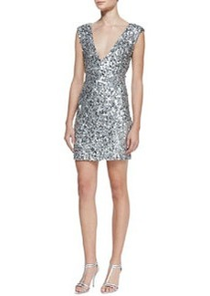 Deep V-Neck Sequin Dress   Deep V-Neck Sequin Dress