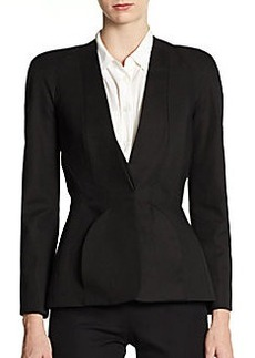 Zac Posen Paneled Round-Shoulder Jacket