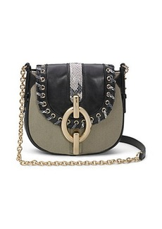 Sutra Mini Laced Canvas Crossbody Bag