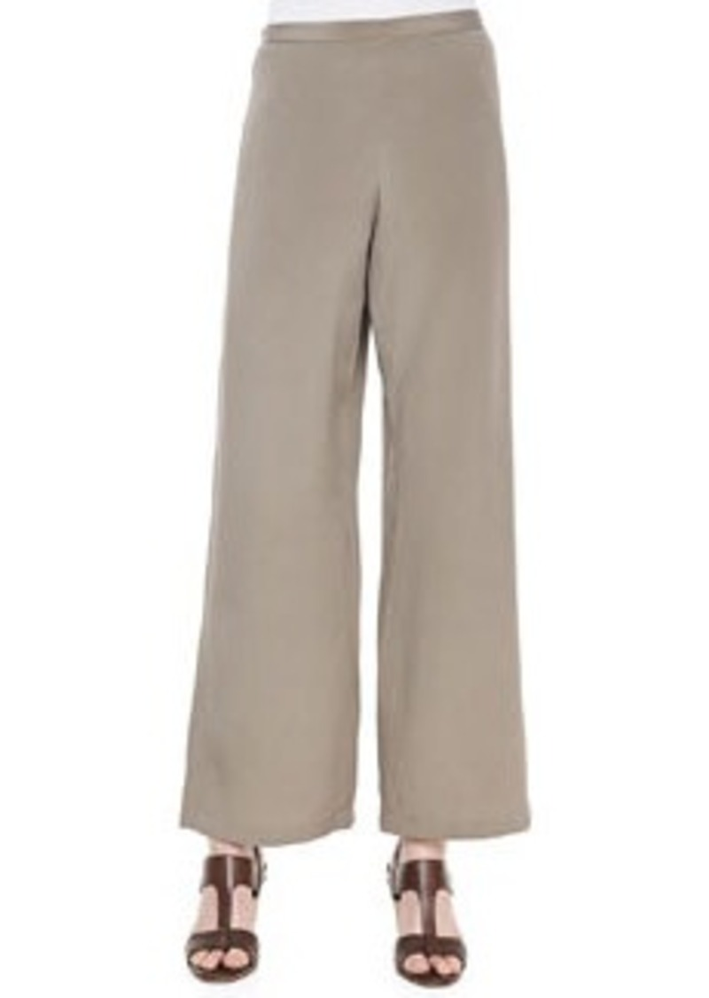 Go Silk Silk Wide-Leg Pants, Petite