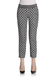 Saks Fifth Avenue BLACK Geometric Tile Skinny Pants