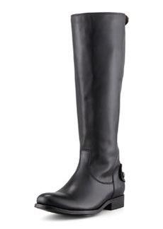 Frye Melissa Zip Riding Boot, Black