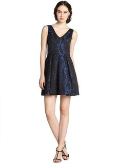 A.B.S. by Allen Schwartz cobalt cotton blend jacquard sleeveless party dress