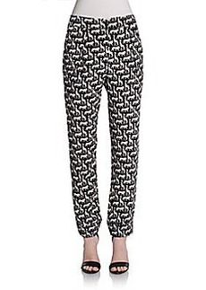 Diane von Furstenberg Pleated Straight-Leg Pants